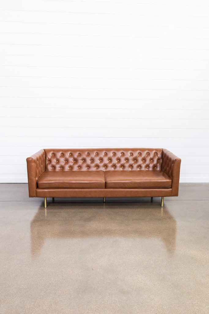 Leather Sofa at The Studio at Sugar Creek